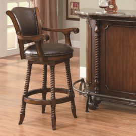 Traditional adjustable bar stool