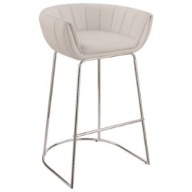 Modern Low Back Bar Stool white