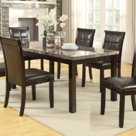 1354 dining chair in black leather