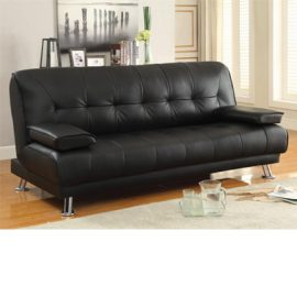 Pierre Tufted Upholstered Sofa Bed Black