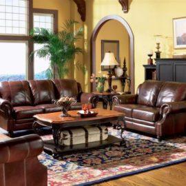 500661 Princeton leather set