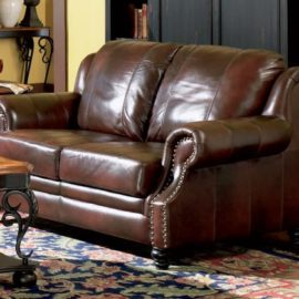 500661 Princeton leather loveseat