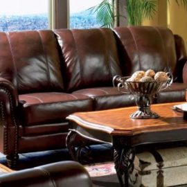 500661 Princeton leather sofa