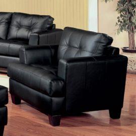 Black B Leather sofa sleeper