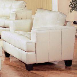 White B Leather sofa sleeper
