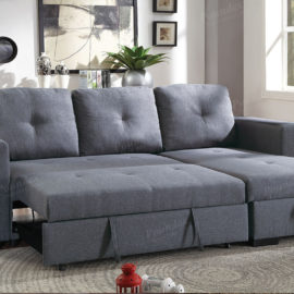 6920 Sofa chase Sleeper in Grey