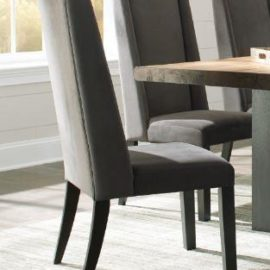 fabric gray upholstered side chair