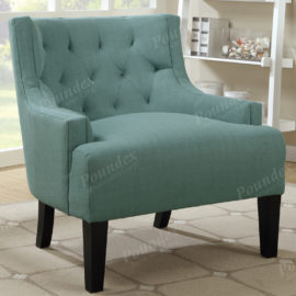 L Blue Accent tufted chair