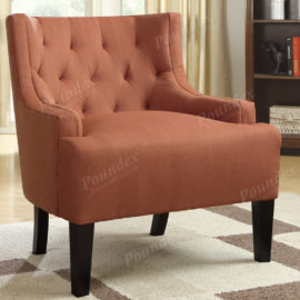 Accent chairs tufted back