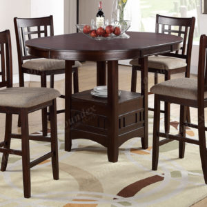 Rose wood dining counter high set of 4