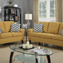 Chevron patterned Sofa set