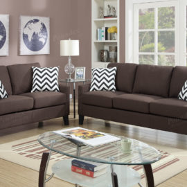 Sloped Arm Sofa Set
