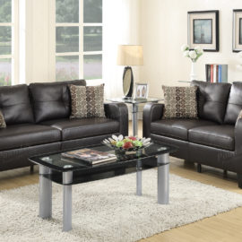 Curved Arm Sofa Set