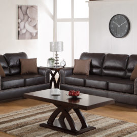 Barrel Back Espresso Sofa set