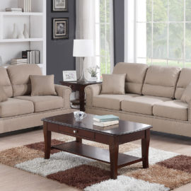 Barrel Back Sand Sofa set