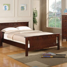 Full size brown cherry bed frame