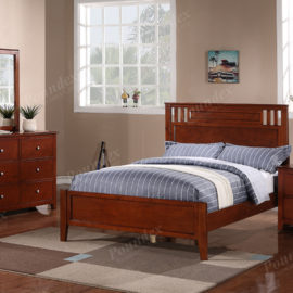 Cherry bed frame in full or twin for kids