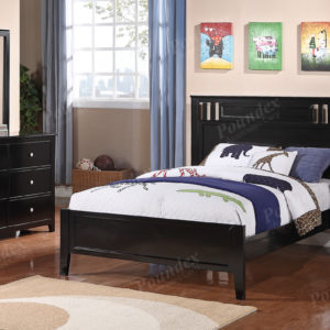 Black bed frame in full or twin for kids