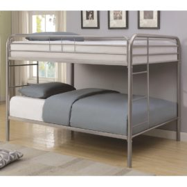 Silver Metal Beds Full Over Full Bunk Bed