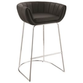 Modern Low Back Bar Stool black