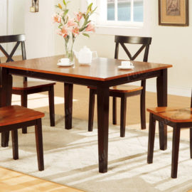 Two tone 5pc dining set