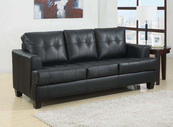 Samuel Faux Leather Sofa or Sleeper - Paradise Furniture Store