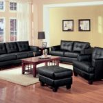 Black B Leather sofa sleeper