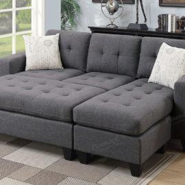 Sectional sleeper Grey storage
