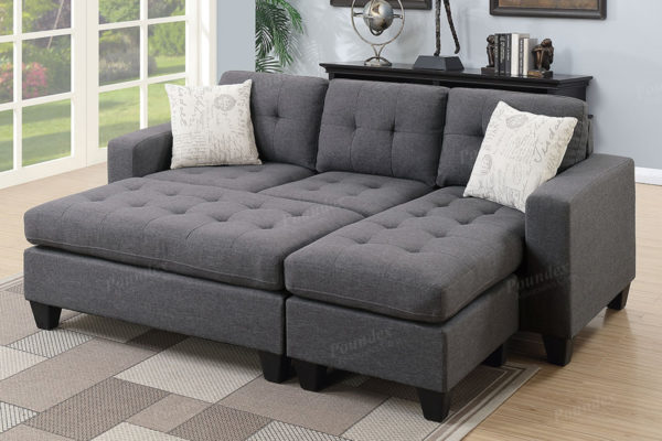 Sectional sleeper Grey storage