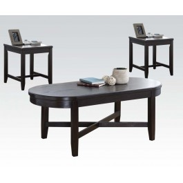 3pc coffee table and end table