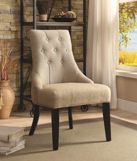 fabric sand upholstered side chair