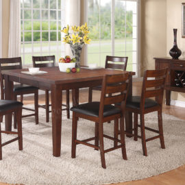 6 serving walnut dining set