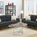 Trimmed Line Sofa Love Navy, Black and Grey