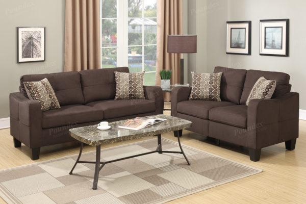 Curved Arm Sofa Set