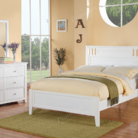 White bed frame in full or twin for kids