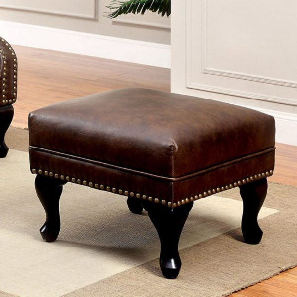 Vaugh B Leather ottoman