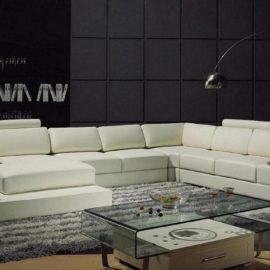 T63 Divani Casa white leather Sectional