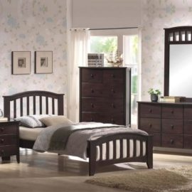 San Marino dark walnut bed set