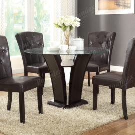 leather espresso dining chairs