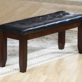 Leather top Bench
