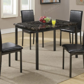 5pc marble top dining set