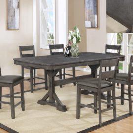 modern grey 6 chairs dining set