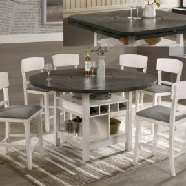 Conner Gray & White Counter Height Server Base Dining