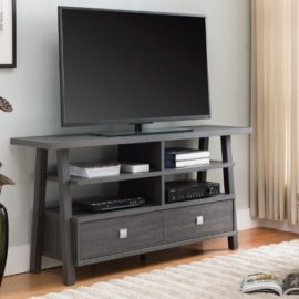 "60"" Grey TV stand"