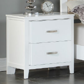 White and silver nightstand