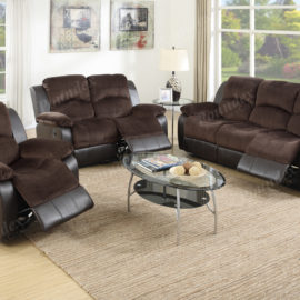 two tone recliner sofa set