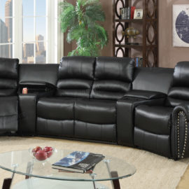 Home Theater Recliner Sectional.