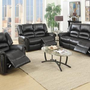 Recliner sofa set bonded leather