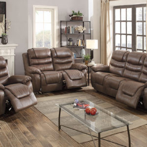 Recliner sofa set bonded leather