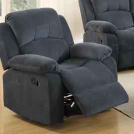 blue grey recliner chair